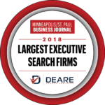 Color Image of Minneapolis St. Paul Business Journal Top Search Firm Award to Deare Search Partners Minneapolis MN Search Firm